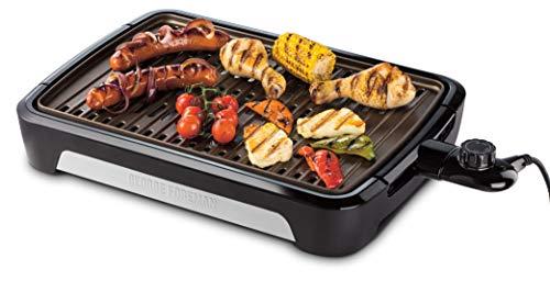 George Foreman 25850-56 Smokeless BBQ Grill, Niente Fumo per utilizzo in casa, Piastra e Vassoio Lavabili in… 1