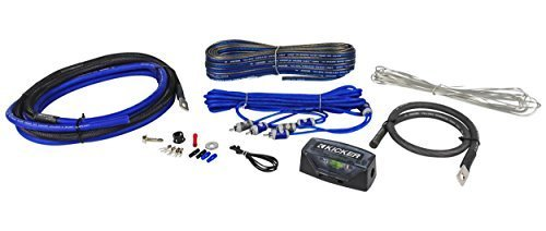 Kicker CK4 Complete 4 Gauge OFC CK-Series 2-Channel Amplifier Installation Kit - Kicker Sound System