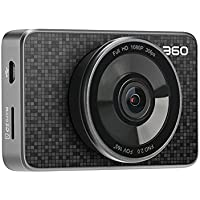 360 Car Dash Cam, 3.0 LCD FHD 1080p 165° Wide Angle Car DVR Vehicle Camera Recorder with Ambarella A12, G-Sensor, WDR, Motion Detection, Loop Recording, Bluetooth Button & 16G Micro SD Card