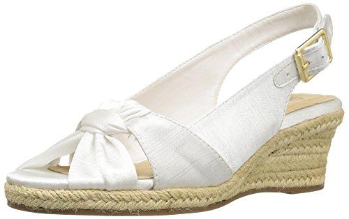 Bella Vita Women's Seraphina Ii Espadrille Wedge Sandal White 7 W US from Bella Vita