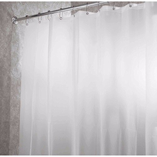 NEW SOLID WATER REPELLANT BATHROOM SHOWER CURTAIN LINER CLEAR ALL COLORS (Mickey Scale Bathroom)