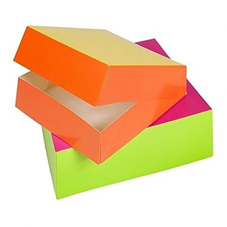 García de Pou 197.94 Caja Pastelería, 25 x 25 x 8 cm, Set de 50, Anís & Fucsia: Amazon.es: Industria, empresas y ciencia