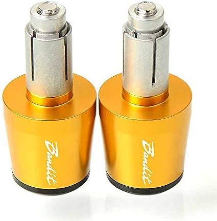 22mm 7//8 Poign/ées de Guidon pour Suzuki GSF 250 600 600S 650 650S 650N 1200 1250 Bandit 650S-DOr