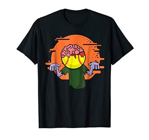 Softball Zombie T-Shirt Funny Halloween Costume