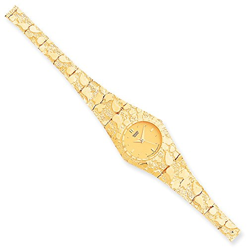 10k Yellow Gold Champagne 22mm Dial Nugget Watch