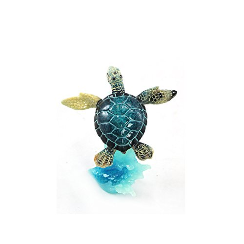 WonderMolly Sea Life Collection Blue Sea Turtle on Wave ()