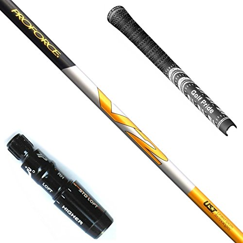 (PROFORCE V2 7 - Driver Shafts Upgrade + Grip - Choose Adapter (Flex X-Stiff) (Adapter - TaylorMade M1/M2))
