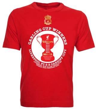 UKSoccershop 2012 Liverpool Carling Cup Winners T-Shirt