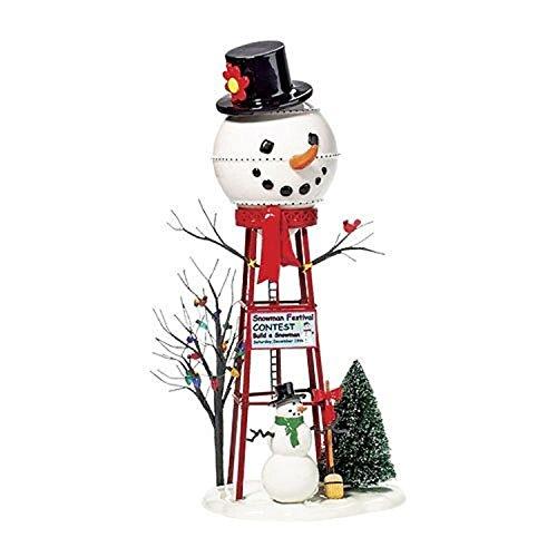 Department 56 Accessories for Villages Snowman Watertower Figurine Accessory Department 56 Snowman