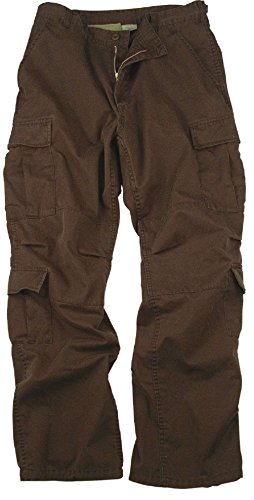 Bellawjace Clothing Camouflage Vintage Military Paratrooper Tactical BDU Fatigue Pants