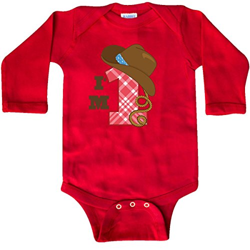inktastic Cowboy 1st Birthday Western Long Sleeve Creeper 18 Months (Cowboy 1st Birthday)
