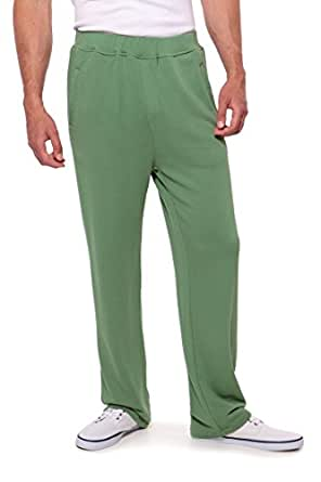 Texere Men's Terry Sweatpants Lounge Pants (Hedge Green, Small) Father's Day Gift MB1201-HGR-S