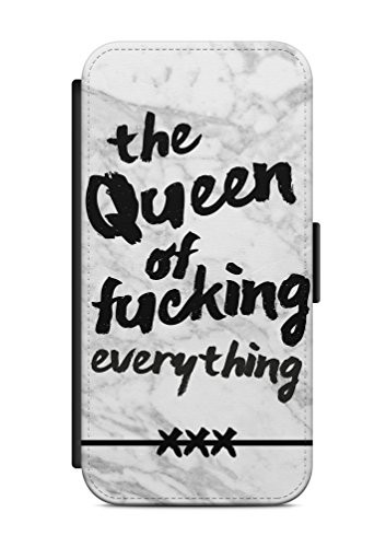 iPhone 8 PLUS THE QUEEN Flip Tasche Hülle Case Cover Spruch