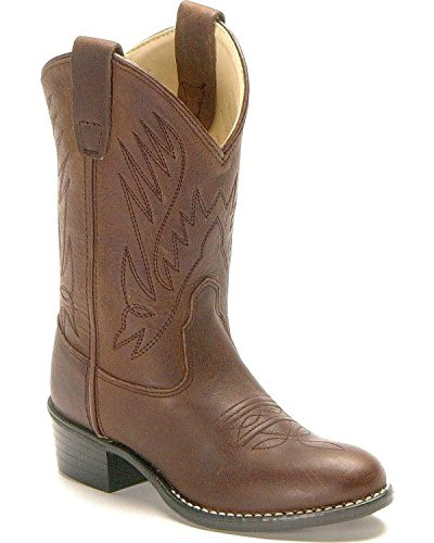 Old West Toddler-Boys' Cowboy Boot Distressed 7.5 D(M) US