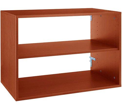 K&A Company freedomRail Big O-Box Shelf Unit - Cherry, 20'' x 16'' x 43 lbs