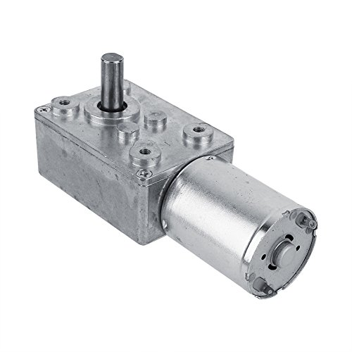 12V 40rpm Electric High Torque Turbo Worm Geared DC Motor - 2