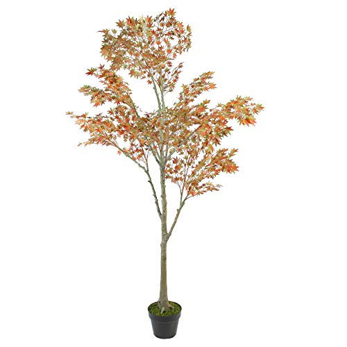 - Northlight Potted Fall Harvest Artificial Dream Japanese Maple Tree, 5.5', Orange