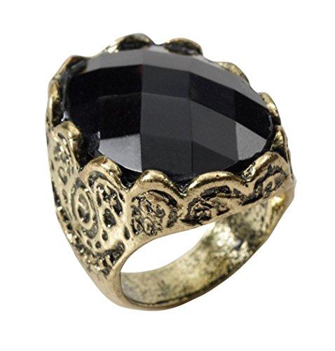 Gold Costume Jewelry Rings (Black Stone Ring Costume Jewellery)