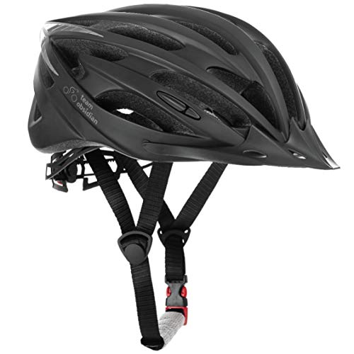 TeamObsidian Airflow Bike Helmet - for Adult Men & Women and Youth/Teenagers - CPSC Certified Bicycle Helmets for Road, Urban, Street or Mountain Biking - Best Cycling Gift Idea - [ Black/Small ]