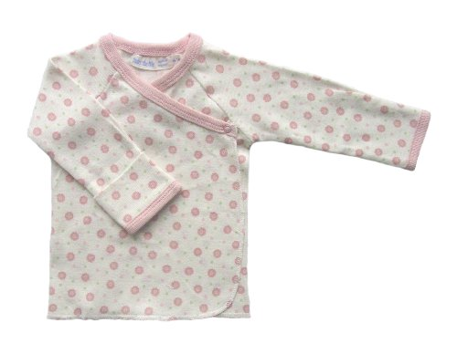 (Under the Nile Baby Girls' Long Sleeve Shirt, Pink/Dots 0-3 Months)