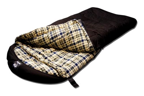 Grizzly -50 Degree Canvas Sleeping Bag (Black), Outdoor Stuffs