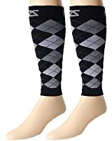 Zensah DeZign Compression Leg Sleeves - Great for Running, Travel, Jogging, Walking, Basketball - Faster Muscle Recovery and Better Circulation - Relieve Shin Splints