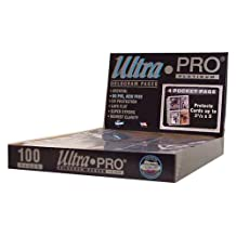 Ultra Pro 4 Pocket (Postcards) Pages (100 Pages)