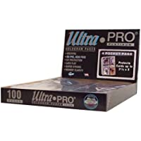 """Ultra Pro 4-Pocket Platinum Page with 3-1/2"""" X 5"""" Pockets 100 ct."""