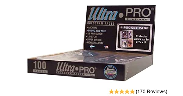 Ultra Pro 4-Pocket Pages 25 PAGES PHOTO or Postcard