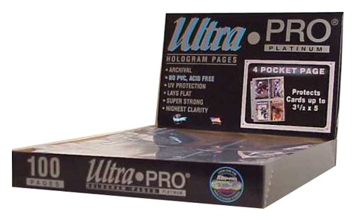 ultra-pro-4-pocket-platinum-page-with-3-1-2-x-5-pockets-100-ct