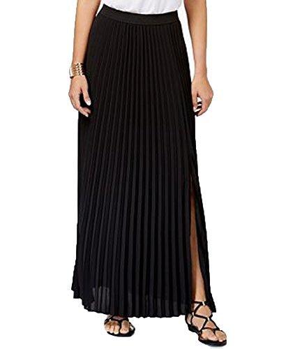 Thalia Sodi Pleated Maxi Skirt (Deep Black, L) from Thalia