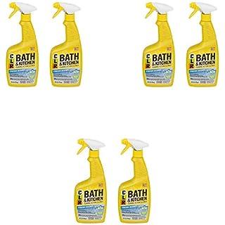 Jelmar PB-BK-2000 CLR Fresh Scent Bath and Kitchen Cleaner, 26 oz Trigger Spray Bottle (2 Pack) Pack of 3