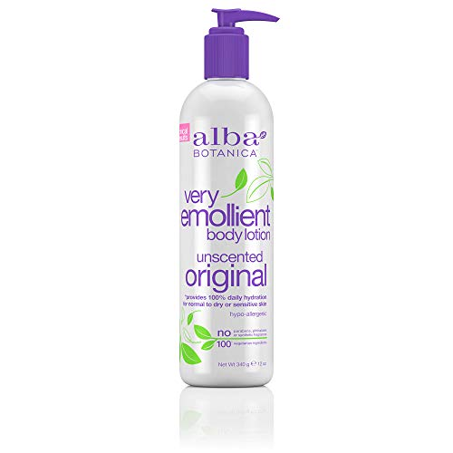Alba Botanica Very Emollient Unscented Original Body Lotion, 12 oz.