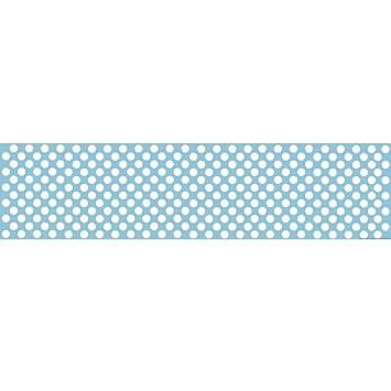 Camino de mesa de lunares de papel azul pálido - 120 cm x 30 cm ...
