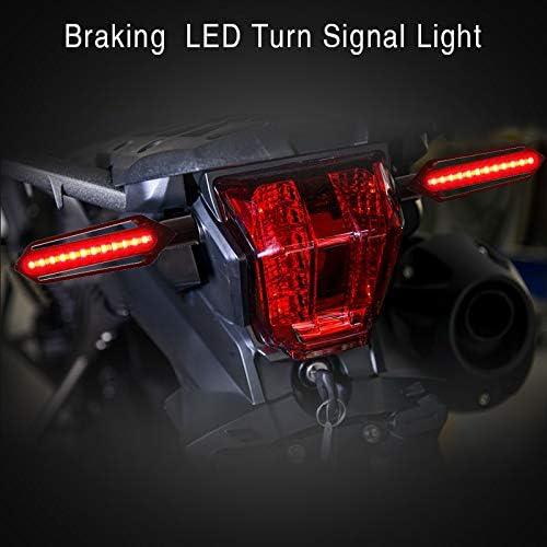 Packung mit 2 FEZZ LED Blinker Motorrad LED Bremslicht Motorrad Bernstein+Rot