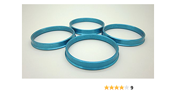 4 Pc Hub Centric Rings 57.1 ID To 73.00 OD Aluminum Color- Vehicle - 57.1 mm Wheel - 73.00 mm