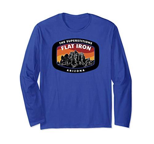 SUPERSTITION FLAT IRON Arizona Mountain Hiking Long Sleeve T-Shirt