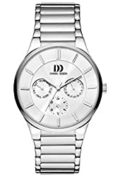 Danish Design Men's Grey Steel Bracelet & Case Quartz Silver-Tone Dial Analog Watch IQ62Q1110