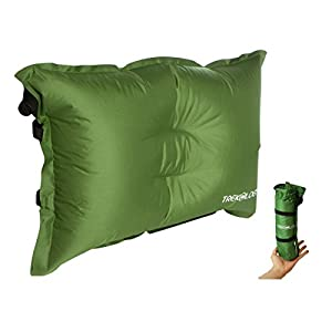 Trekology Self Inflating Camping / Lumbar Pillows - Compressible, Inflatable, Comfortable Air Travel Pillow Cushion for Back Support, Sleeping, Hiker, Backpacking, Camp, Outdoor, Rest