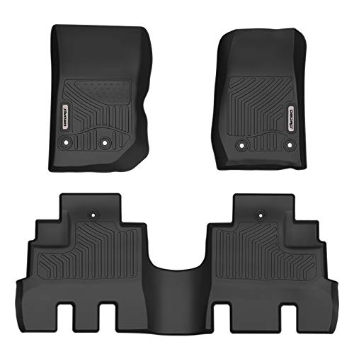 oEdRo Floor Mats Compatible for 2014-2018 Jeep Wrangler JK Unlimited 4 Door (NOT for JL), All Weather Protection Front and Rear Floor Liners