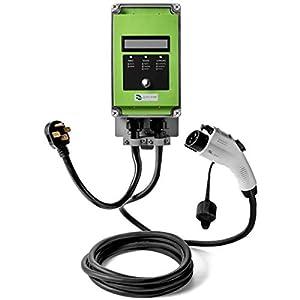 Ultra 32 Amp Electric Vehicle EV Charging Station J1772 NEMA 14-50 240V Level 2 18ft EVSE with Display