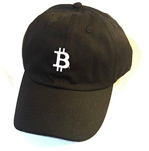 Black Bitcoin Adjustable Embroidered Hat