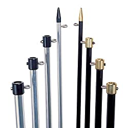 "Tigress 18' Premium Fixed Aluminum Outriggers - 1-12"" O.d. - Silverblack"