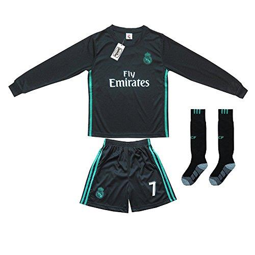 5dc7b7c96 2017 2018 Real Madrid  7 Ronaldo Kids Away Soccer Jersey   Shorts Youth  Sizes