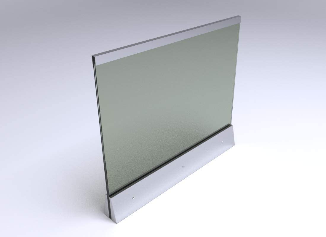 120 x 100cm Edelstahl Glas Balkongel/änder mit klarem Glas