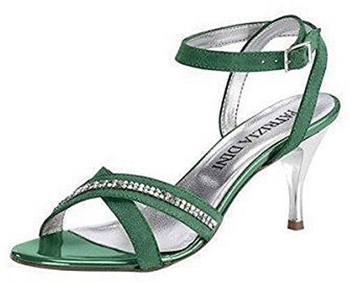 Patrizia Dini Sandalette - Sandalias de vestir de material sintético para mujer verde - verde