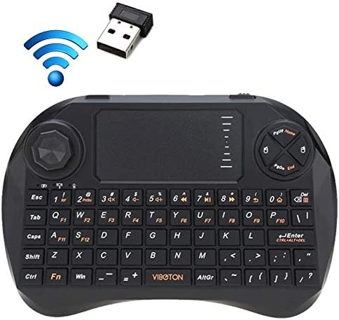 PS3 HTPC//IPTV XBOX360 HUFAN X3 83-Keys QWERTY 2.4GHz Mini Wireless Keyboard with Touchpad /& 3 LED Indicator for PC//Pad//Android//Google TV Box Black