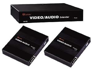 AV link VGA Encima LAN RJ45 Ethernet Desplegar Divisor Audio 2 Manera 300 m