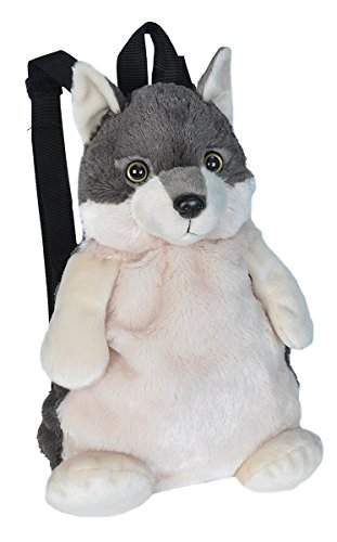 Wild Republic Wolf Backpack, Mini Backpack, Animal Bag, Kids Gifts, Plush Zoo Animal, 14 Inches