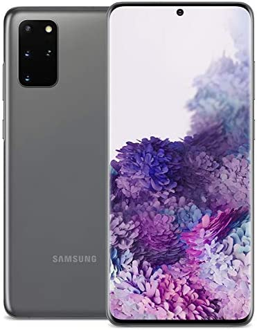 Samsung Galaxy S20+ 5G Factory Unlocked New Android Cell Phone US Version   128GB of Storage   Fingerprint ID and Facial Recognition   Long-Lasting Battery   US Warranty  Cosmic Gray